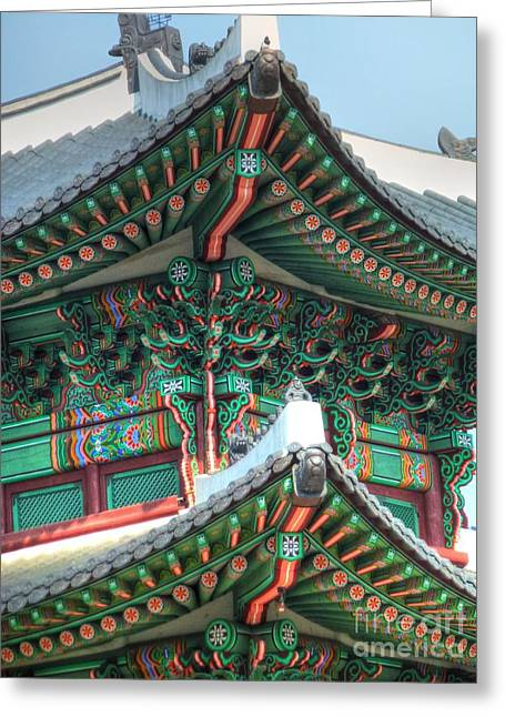 Seoul Greeting Cards - Seoul Palace Greeting Card by Michael Garyet