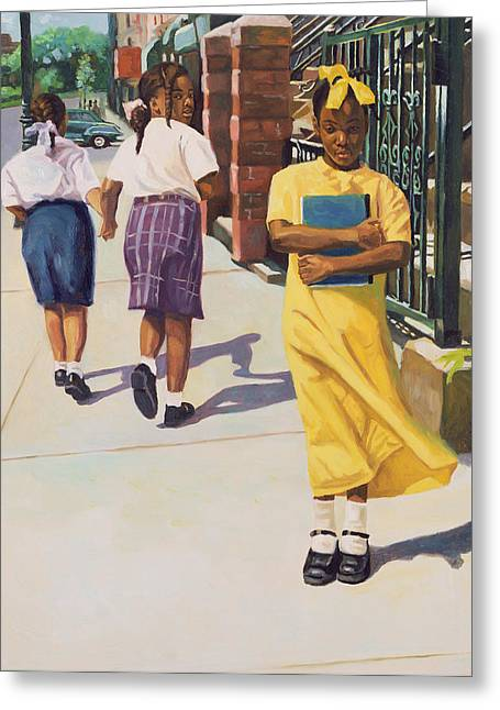 African American Artist Greeting Cards - Separate Ways Greeting Card by Colin Bootman
