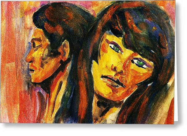 Separation Paintings Greeting Cards - Separation Greeting Card by Hartmut Jager