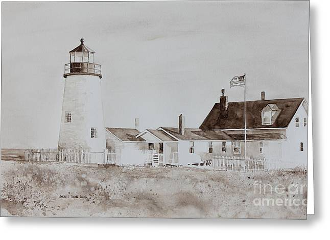 Mid-coast Maine Greeting Cards - Sepia Afternoon Greeting Card by Monte Toon