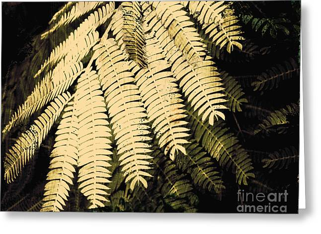 Ecru And Brown Greeting Cards - Sepia Fern  Greeting Card by Ann Powell