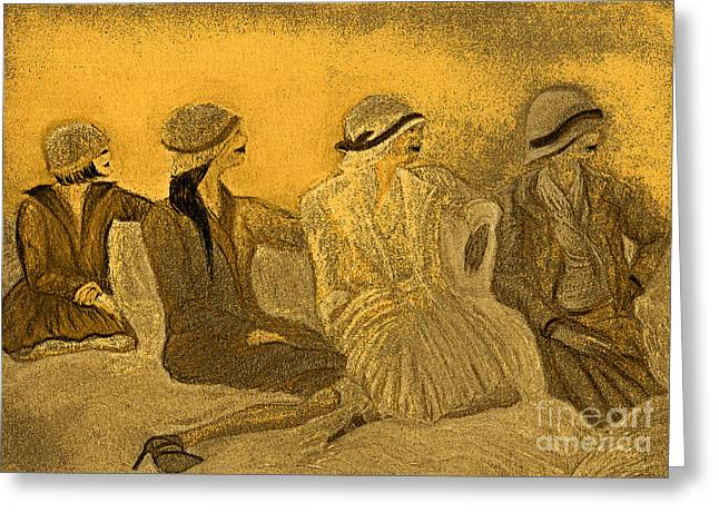 First-class Digital Art Greeting Cards - Sepia Hats by jrr Greeting Card by First Star Art
