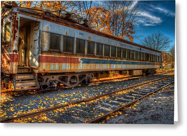 Rail Siding Greeting Cards - Septa 9125 Greeting Card by William Jobes