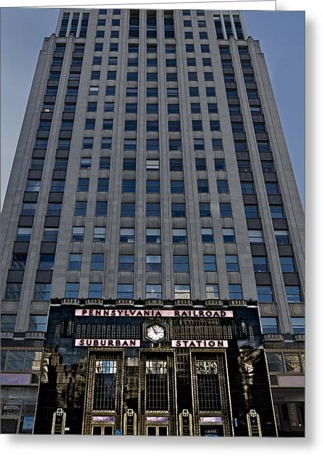 Art Deco Greeting Cards - SEPTA Suburban Station Greeting Card by Susan Candelario