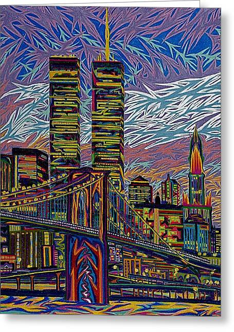 Center City Pastels Greeting Cards - September 10th  Greeting Card by Robert  SORENSEN