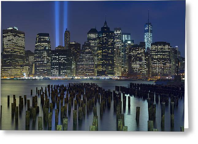 Cityscape Photograph Greeting Cards - September 11 Greeting Card by Rick Berk