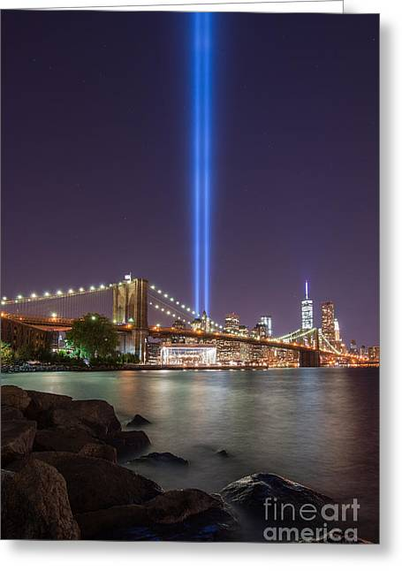 Manhatan Greeting Cards - September 11th at Dumbo NY Greeting Card by Michael Ver Sprill