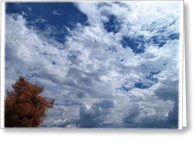 Sky Scape Greeting Cards - September Afternoon Greeting Card by Glenn McCarthy Art and Photography