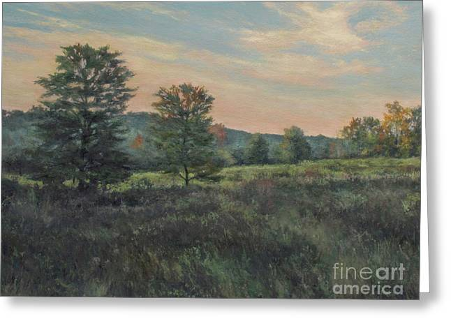 Gregory Arnett Paintings Greeting Cards - September Meadow Greeting Card by Gregory Arnett