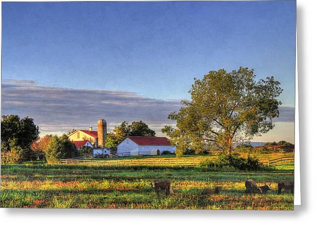 Pennsylvania Barns Greeting Cards - September Morning Greeting Card by Sharon Batdorf