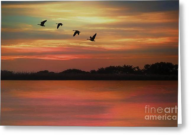 Undefined Greeting Cards - September Sky Greeting Card by Tom York Images