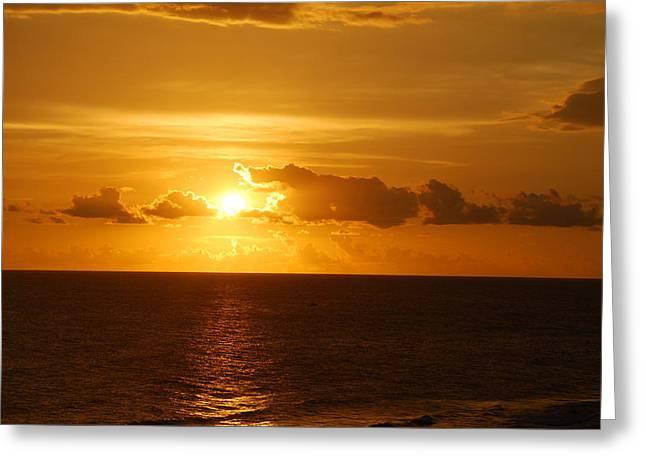 Panama City Beach Greeting Cards - September Sunset Greeting Card by Jennifer Blackstock Lee