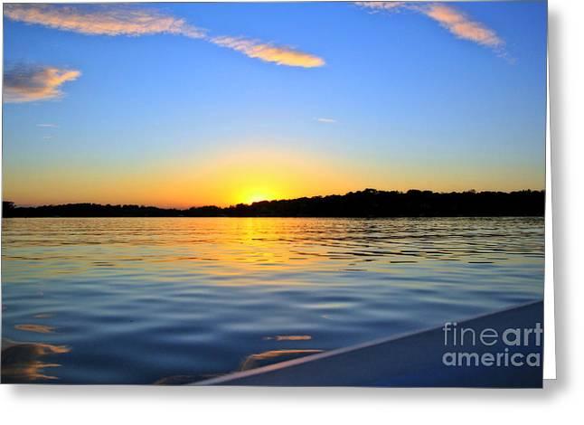 Jill Hyland Greeting Cards - September Sunset Greeting Card by Jill Hyland