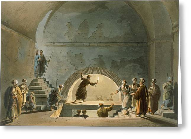 Arch Greeting Cards - Sepulchral Chamber, Near Bethany Greeting Card by Luigi Mayer