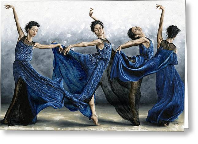 Reach Greeting Cards - Sequential Dancer Greeting Card by Richard Young