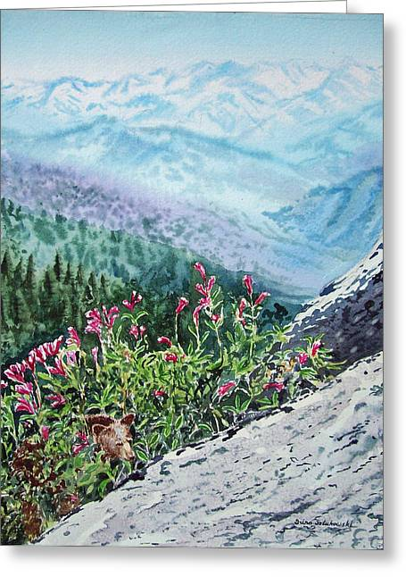National Paintings Greeting Cards - Sequoia National Park Greeting Card by Irina Sztukowski