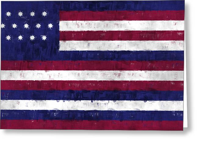 Battle Of Franklin Greeting Cards - Serapis Flag Greeting Card by World Art Prints And Designs