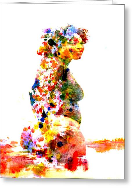 French Open Paintings Greeting Cards - Serena Williams Greeting Card by Brian Reaves