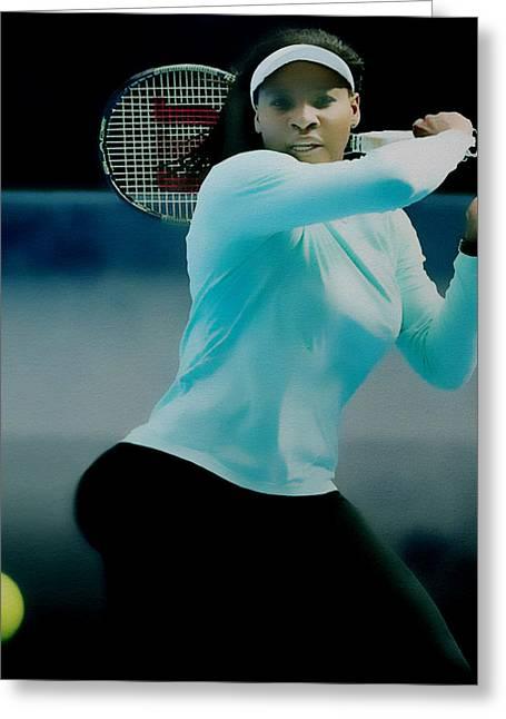 Navratilova Greeting Cards - Serena Williams Proud Curves Greeting Card by Brian Reaves
