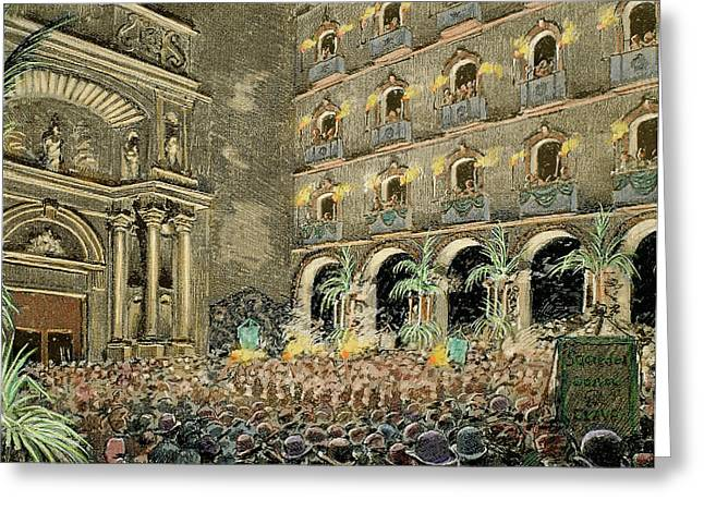 Serenade By Choral Societies Given Greeting Card by Prisma Archivo