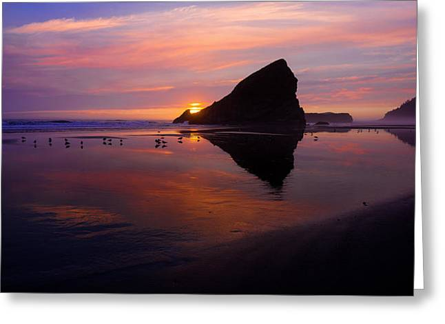 Oregon Coast Greeting Cards - Serenade Greeting Card by Chad Dutson