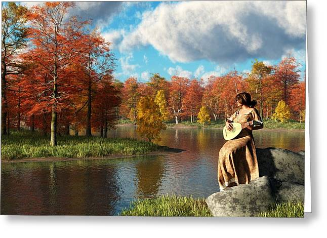 Bard Greeting Cards - Serenading The Fall Greeting Card by Daniel Eskridge