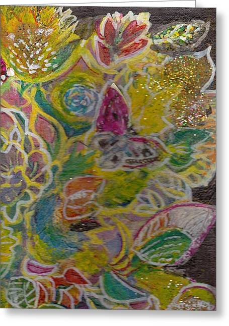 Serendipity Comes To Life Greeting Card by Anne-Elizabeth Whiteway