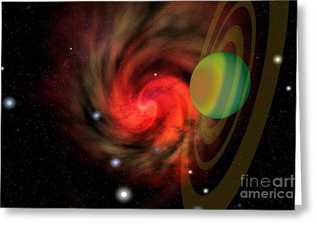 Interstellar Space Digital Art Greeting Cards - Serendipity Greeting Card by Corey Ford