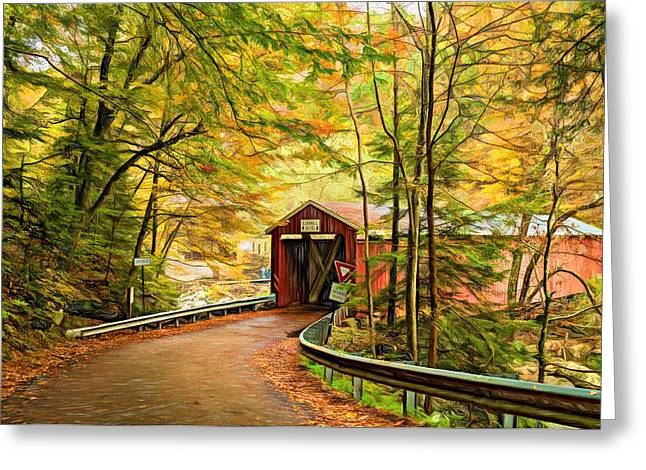 Back Roads Digital Art Greeting Cards - Serendipity - Painted 2 Greeting Card by Steve Harrington