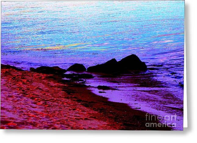 Seren Greeting Cards - Serene Beach Greeting Card by Annie Zeno