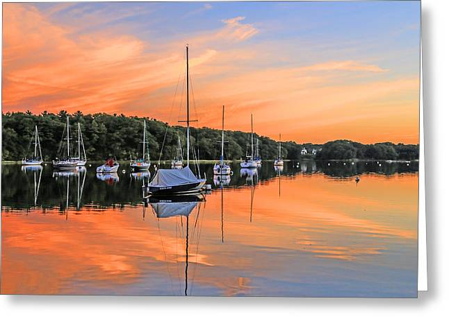 New England Coast Line Greeting Cards - Serene Canal Greeting Card by Karol  Livote