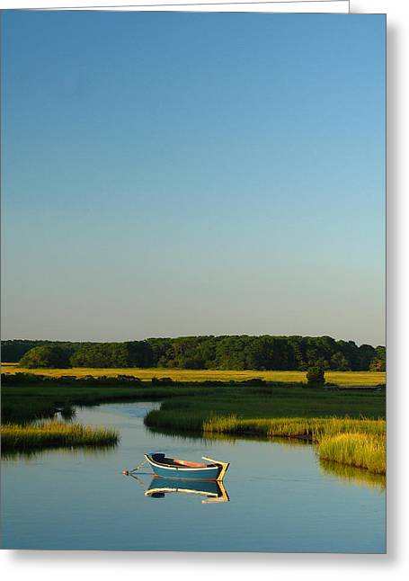 Fishing Creek Greeting Cards - Serene Cape Cod Greeting Card by Juergen Roth