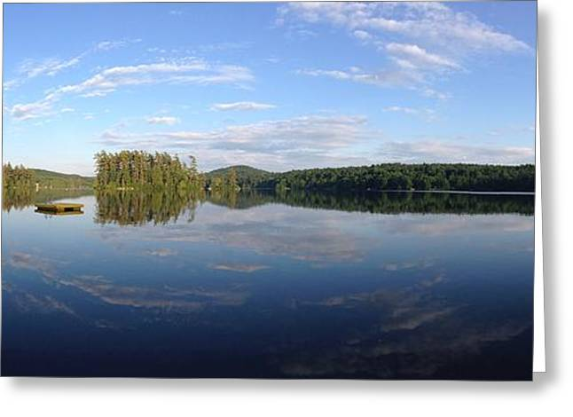Serene Lake Scene Greeting Card by Michael French