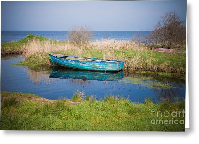 Neagh Greeting Cards - Serene Lough Neagh Greeting Card by Barry McQueen