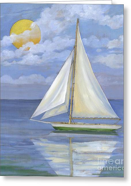 Sailboat Ocean Greeting Cards - Serene Sailboat II Greeting Card by Paul Brent