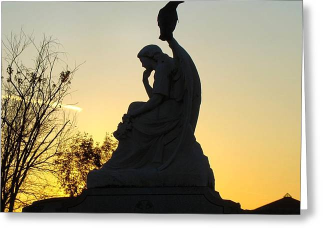 Nature Scene Art Digital Art Greeting Cards - Serene Silhouette Greeting Card by Gothicolors Donna Snyder