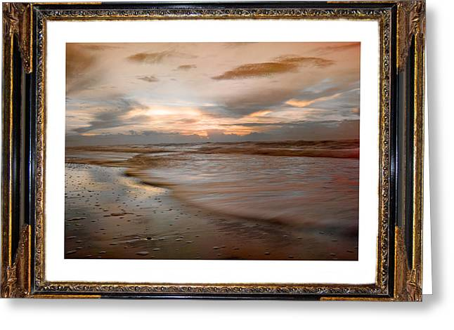 Topsail Island Greeting Cards - Serene Sunrise Greeting Card by Betsy C  Knapp