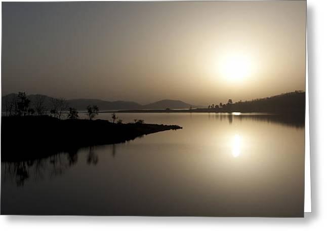 Serene Sunrise Greeting Card by Vinod Chauhan