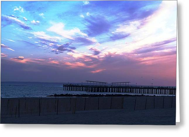 Bamboo Fence Greeting Cards - Serene Sunset Greeting Card by Mary Ann D Brairton