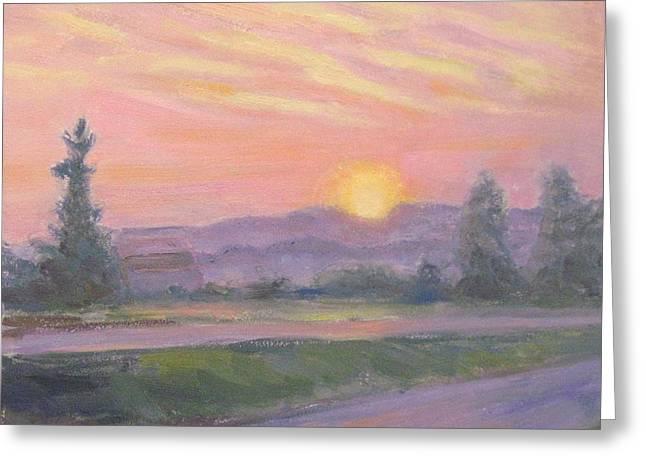 Robie Benve Greeting Cards - Serene Sunset Greeting Card by Robie Benve