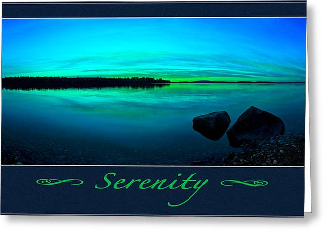 Blue Green Water Greeting Cards - Serenity 2 Greeting Card by Bill Caldwell -        ABeautifulSky Photography