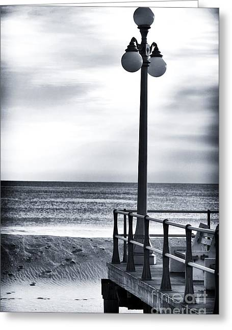 Down The Shore Greeting Cards - Serenity at the Shore Greeting Card by John Rizzuto
