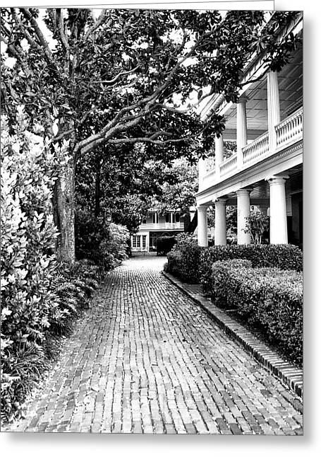 Charleston Houses Greeting Cards - SERENITY Charleston SC Greeting Card by William Dey