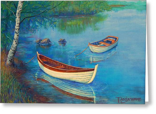 Realistic Pastels Greeting Cards - Serenity Cove Greeting Card by Tanja Ware