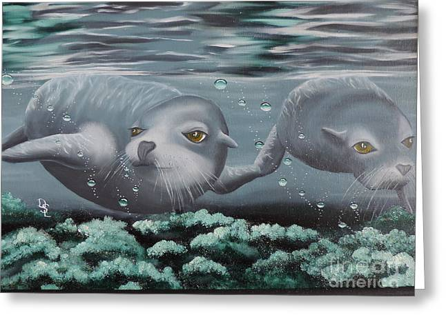 Aquatic Greeting Cards - Serenity Greeting Card by Dianna Lewis