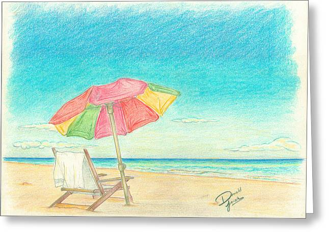 California Beaches Drawings Greeting Cards - Serenity Greeting Card by Donald Jones