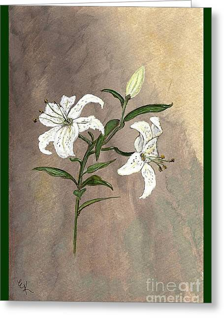 Bible Paintings Greeting Cards - Serenity Greeting Card by Ella Kaye Dickey