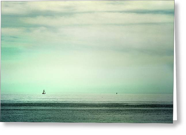 Sailboat Photos Greeting Cards - Serenity Greeting Card by Guido Montanes Castillo