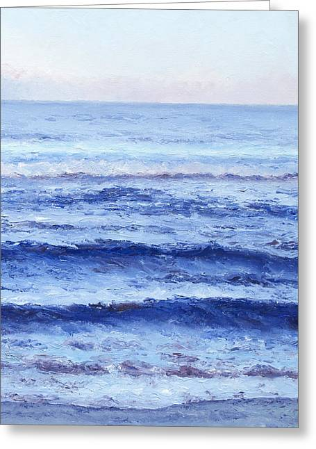 Beach Cottage Style Greeting Cards - Serenity Greeting Card by Jan Matson