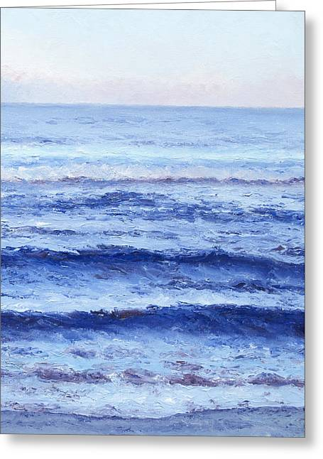 Beach Themed Art Greeting Cards - Serenity Greeting Card by Jan Matson